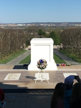 The Tomb of the Unknown Soldier. Since July 2, 1937 it has been guarded continuously 24 hours a day 7 days a week.