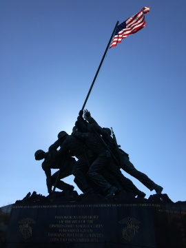 The United States Marine Corp War Memorial. For the Marines dead of all wars and their comrades of other services who fell fighting beside them.